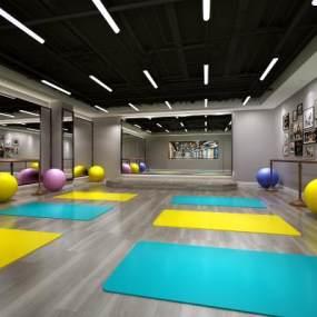 现代健身房3D模型【ID:730677884】