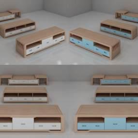 现代电视柜 3D模型【ID:941517980】