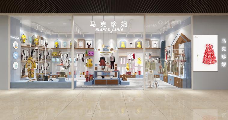 现代童装店3D模型【ID:146552028】