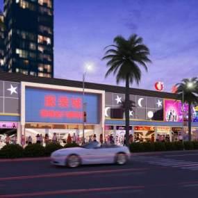 现代商场外观3D模型【ID:130866660】