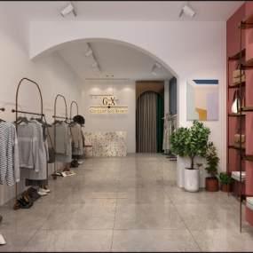 現代服裝店鋪3D模型【ID:146485016】
