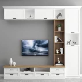 現代電視柜3D模型【ID:948198918】