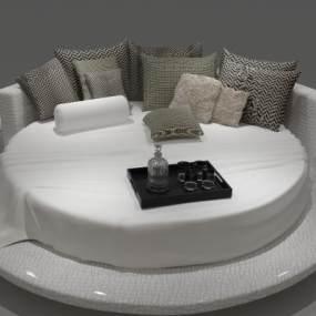现代圆床情趣床3D模型【ID:932474087】