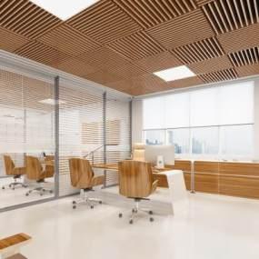现代经理室3D模型【ID:949231077】