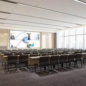 现代会议室3D模型【ID:943537135】