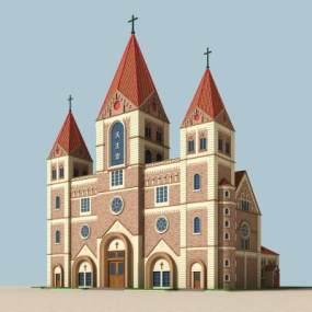 教堂3D模型【ID:133076960】