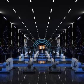 现代健身房3D模型【ID:743138893】