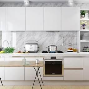 现代厨房3D模型【ID:534705390】