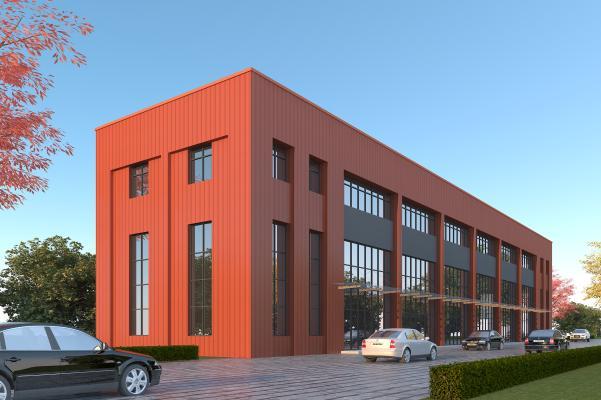 现代工业厂房3D模型【ID:250683307】