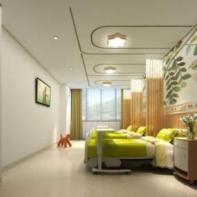 现代儿童病房3D模型【ID:932736754】