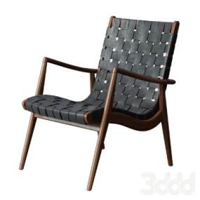 現代休閑椅WLC 22 Woven Leather Armchair】