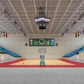 现代篮球场3D模型【ID:635731939】
