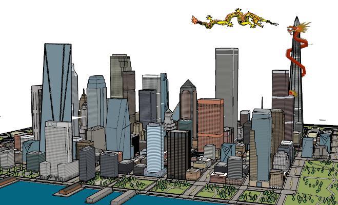 现代城市简模规划SU模型【ID:351681254】