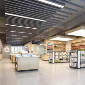 現代圖書館書店3D模型【ID:943737821】