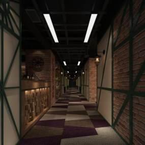 酒店走道 3D模型【ID:740961435】
