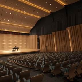 音乐厅3D模型【ID:941230661】