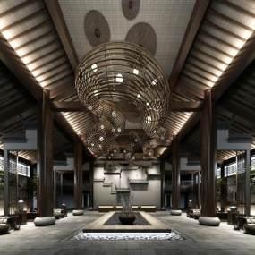 新中式酒店大堂3D快三追号倍投计划表【ID:733874023】