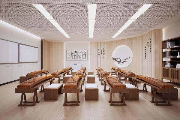 新中式古筝教室音乐培训室