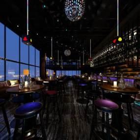 现代酒吧3D模型【ID:834717003】
