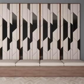 现代沙发靠垫卡座3D模型【ID:635428955】