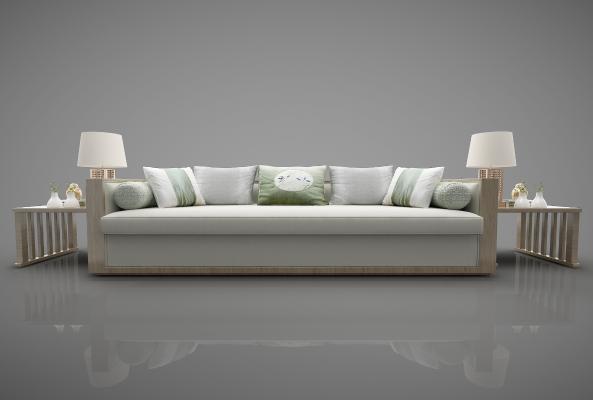 新中式風格家具3D模型【ID:643867611】