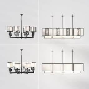 新中式吊灯3D模型【ID:751012825】