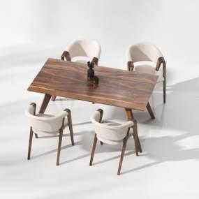 现代餐桌3D模型【ID:843264895】