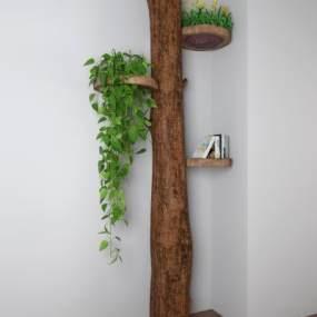 现代树木装饰架3D模型【ID:132978114】