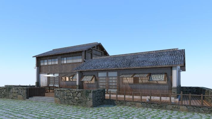 古建民房3D模型【ID:140833719】