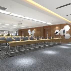 现代会议室3D模型【ID:953189117】