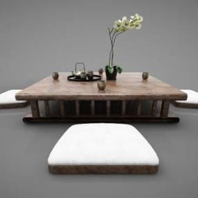新中式风格茶桌3D模型【ID:844458915】