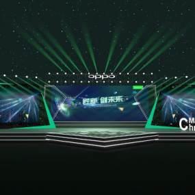 现代发布会现场舞台3D模型【ID:947441978】