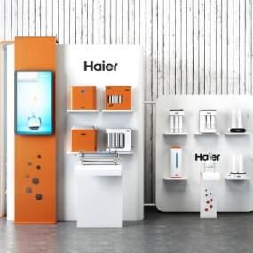 净水器过滤器设备展示架展柜组合3D模型【ID:243844612】