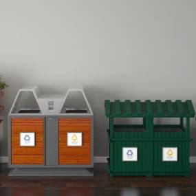 现代垃圾桶 3D模型【ID:436210570】