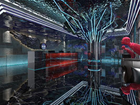 KTV大厅3D模型【ID:843866132】