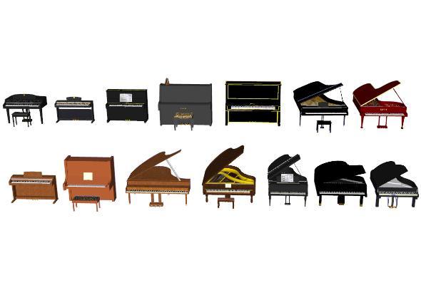 现代钢琴合集SU模型【ID:652113107】