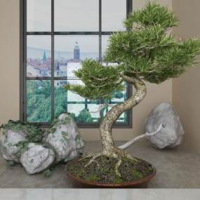 现代植物3D模型【ID:136234488】