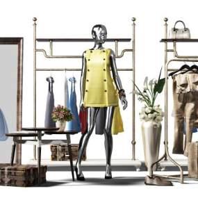 现代衣服3D模型【ID:332533032】