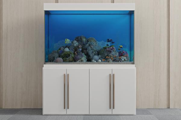 现代生态鱼缸3D模型【ID:340586697】