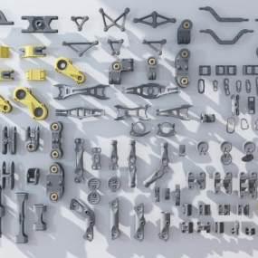现代机械零件3D模型【ID:435746357】