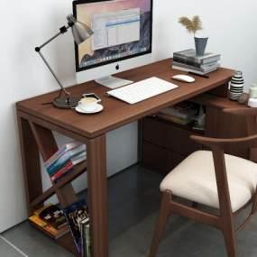 现代书桌3D模型【ID:952385045】