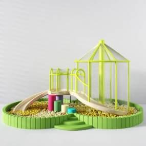 现代球池3D模型【ID:436251452】