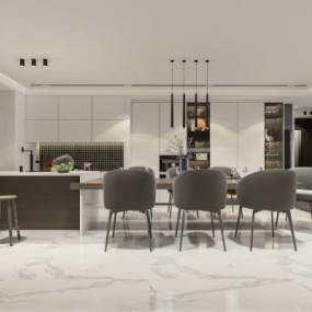 現代廚房3D模型【ID:550783316】