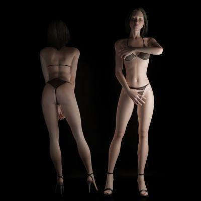 女人体3D模型【ID:340583032】