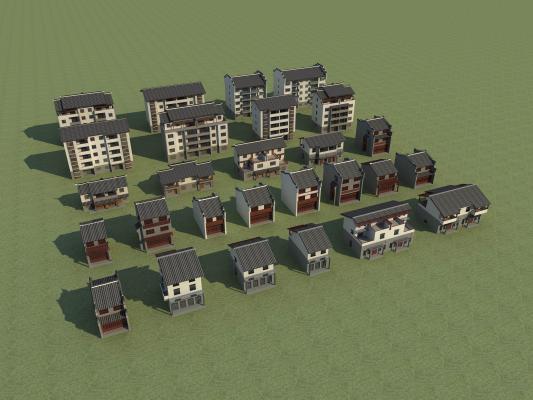 中式古建3D模型【ID:145855376】