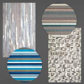 现代地毯组合3D模型【ID:330931235】