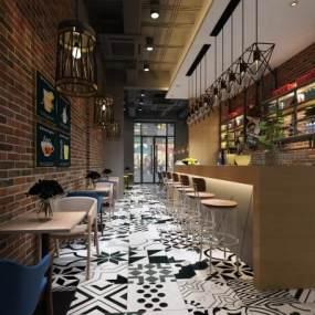 咖啡厅 3D模型【ID:640808324】