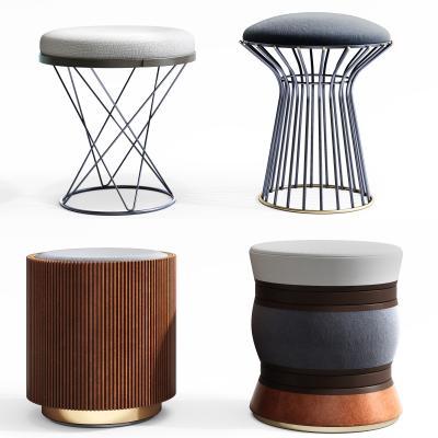 现代椅子 凳子组合