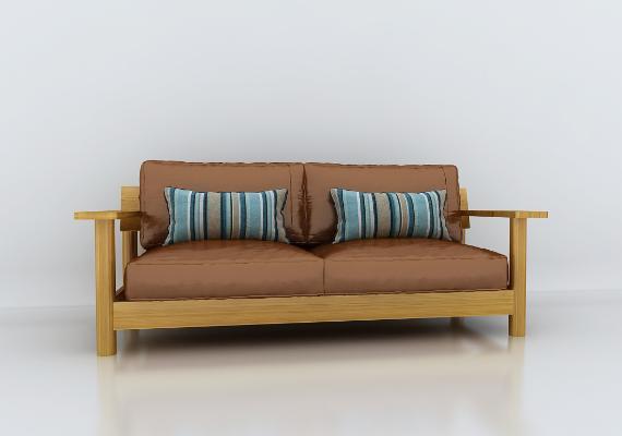 日式無印良品沙發3D模型【ID:653006540】