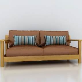 日式无印良品沙发3D模型【ID:653006540】